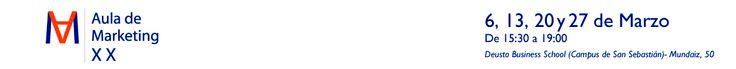 El Aula de Marketing de la Universidad de Deusto es un Foro de encuentro de profesionales del Área Comercial, Marketing y Comunicación para intercambiar metodologías innovadoras y casos de éxito de Empresas y Marcas referentes.  En esta XX Edición los mejores expertos profundizarán en:  - Marketing Relacional  - Comercio Electrónico - Innovación de Mercado al servicio de las personas - Creación de Marcas sólidas - Comunicación   Para más información no dudes en contactar: