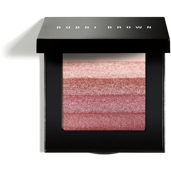Bobbi Brown ROSE SHIMMERBRICK found on Polyvore featuring beauty products, makeup, cheek makeup, blush, blending brush, bobbi brown cosmetics and blender brush