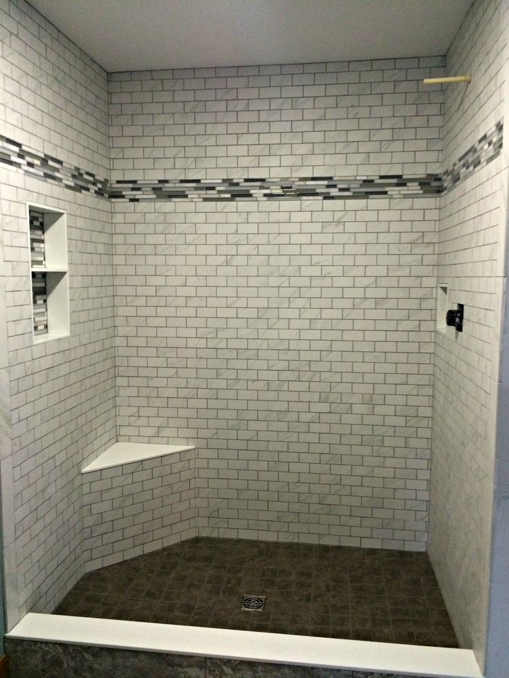 Shower Tile Installed By Hampton Flooring Center In
