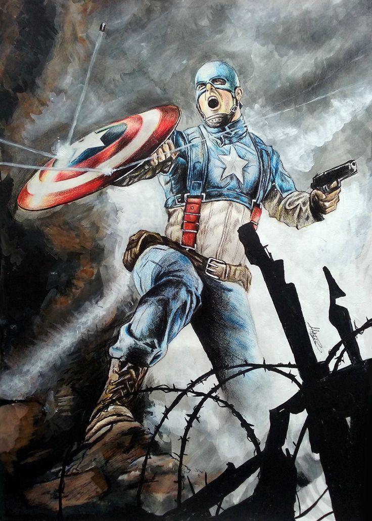 técnica Mixta  capitán América