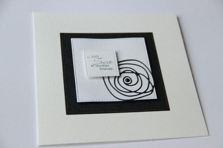 Trauerkarte von Majadam-Creativ auf DaWanda.com