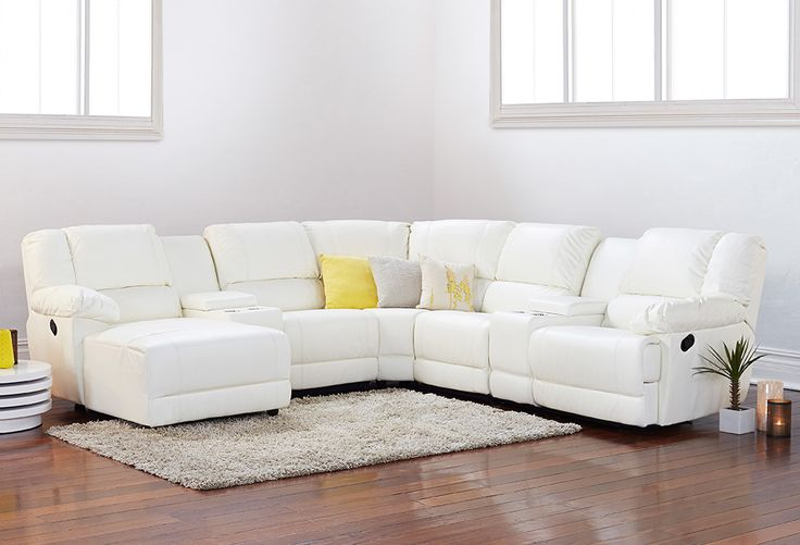 With so much stimulation to the senses in our busy lives, coming home to a space that is calm and serene can be a very welcome relief. Colour plays a huge part in creating a serene environment. Think of whites, silver greys, and natural wood tones. A big comfortable white lounge like the Skylar, which just happens to be on sale, sets a perfect blank canvas.