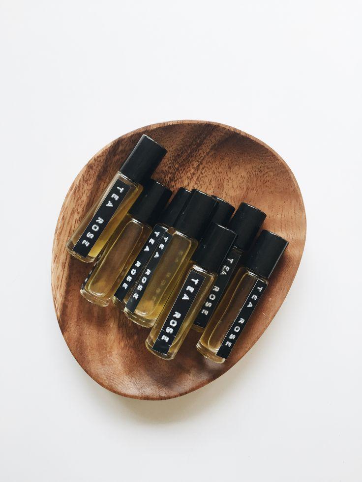 DIY tea rose perfume oil