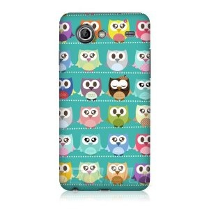 Ecell - HEAD CASE KAWAII GREEN OWL PATTERNED CASE FOR SAMSUNG GALAXY S ADVANCE I9070