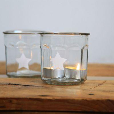Pots à confiture en verre étoile (lot de 2)