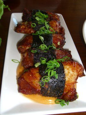 NORI WRAPPED CHICKEN.....my mom makes this and it is sooooo yummy!