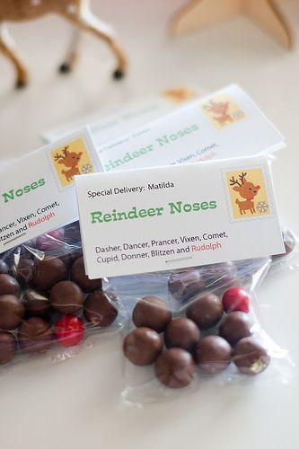 reindeer noses - super cute idea for classmates!Classroom, Reindeer Noses So, Reindeer Noses Brut, Holiday Seasons, Christmas Cheer, Gift Ideas, Babies Kids, Classmates, Crafts