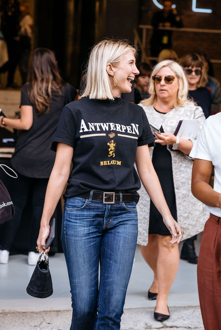 Vetements Antwerpen T-shirt Street Style at NYFW SS17 - Photo by Maria Gibbs