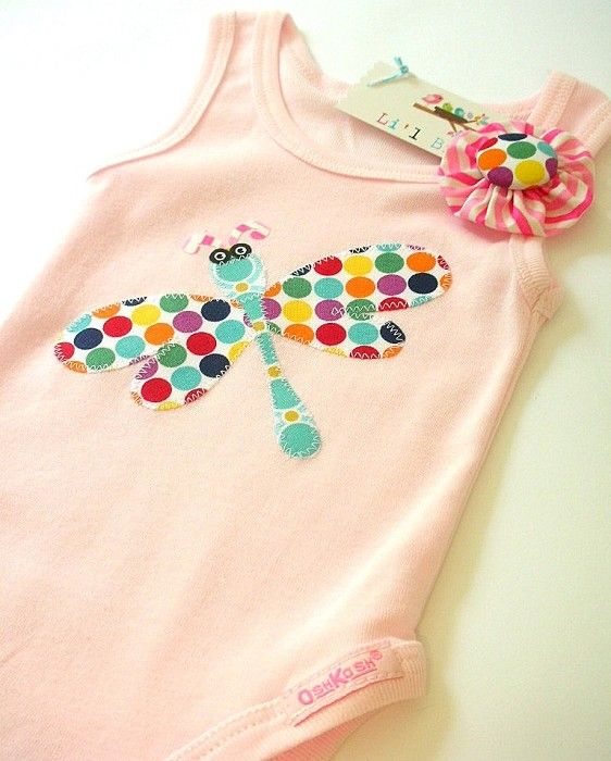 applique dragonfly onesie