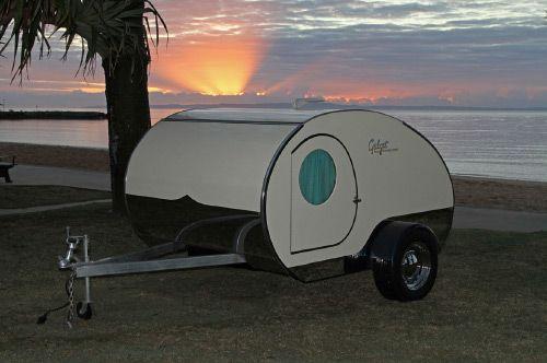 Gidget Retro Teardrop Camper Features Slide-out