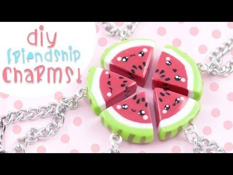 DIY Avocado Friendship Necklace/charms ! | Kawaii Friday - YouTube