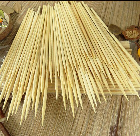 200 unids/lote 4mm * 35 cm pinchos de bambú barbacoa stickes pegatinas dulces twister tornado de la patata de calidad hilo de algodón de cocina, comedor y bar