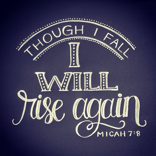 Even if you've fallen seven times, God will help you get back on your feet! No one is too far gone, too messed up, or out of second chances.