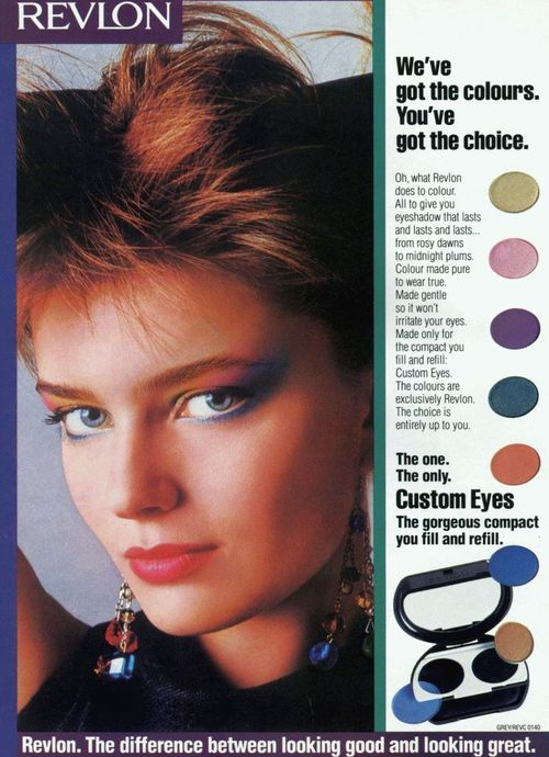 158 best revlon images on pinterest vintage beauty vintage revlon rainbow makeup model paulina porizkova uploaded by httpfuckyeah1980s ccuart Image collections