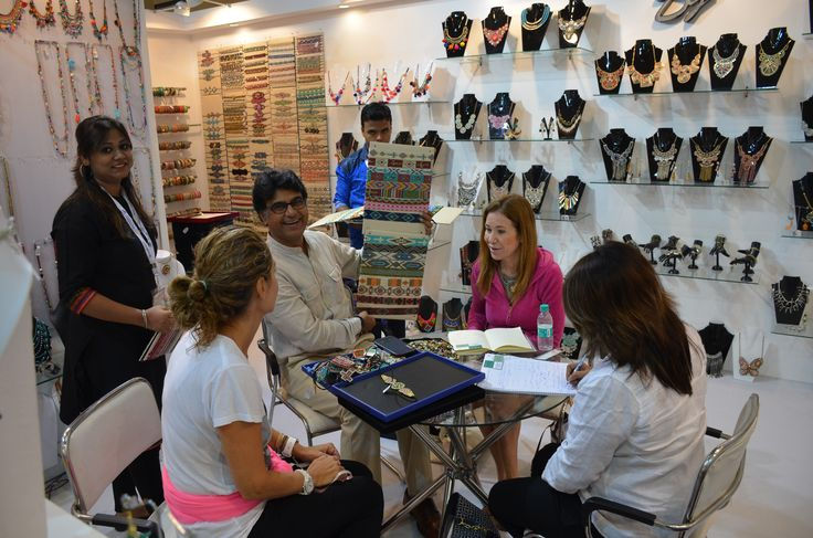Buyers had a wonderful buying experience at The IFJAS India, 2015 #fashion #lifestyle #tradeshow — at India Expo Mart.