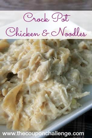 Crock Pot Chicken and Noodles makes an easy weeknight meal. Simple and full of flavor this classic dish will even have your kids asking for more.