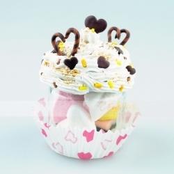 barattolo cupcake cioccolato - idea regalo san valentino - cuoricini al caffè e cioccolato