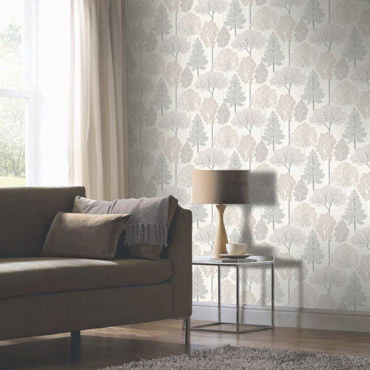 Glitter Tree Wallpaper with Arthouse Ellwood - http://godecorating.co.uk/glitter-tree-wallpaper-arthouse-ellwood/