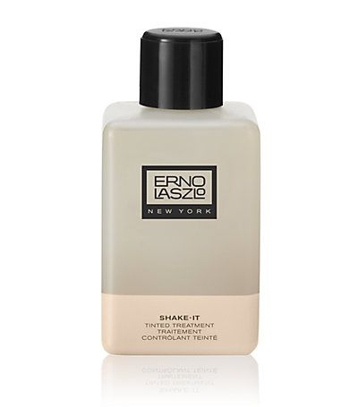 Erno Laszlo Shake-It Tinted Treatment controls surface oil,  tightens pores, locks in moisture and evens your skin tone for a natural-looking matte finish.