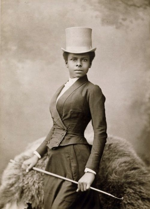 Black Style | 1880s  Studio portrait of an African American female equestrian rider from the late 1880s.  via Black History Album, The Way We Were