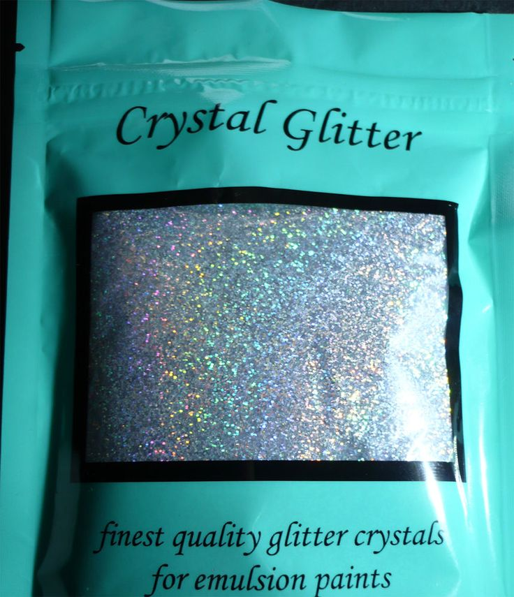Crystal Glitter for emulsion paint, Diamond Silver with holographic crystals in Home, Furniture & DIY, DIY Materials, Paint & Varnish   eBay