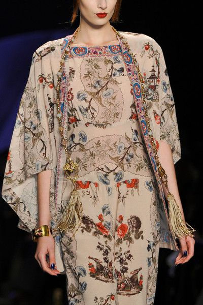 Anna Sui Fall 2014 -There is something very ageless about this ensemble.
