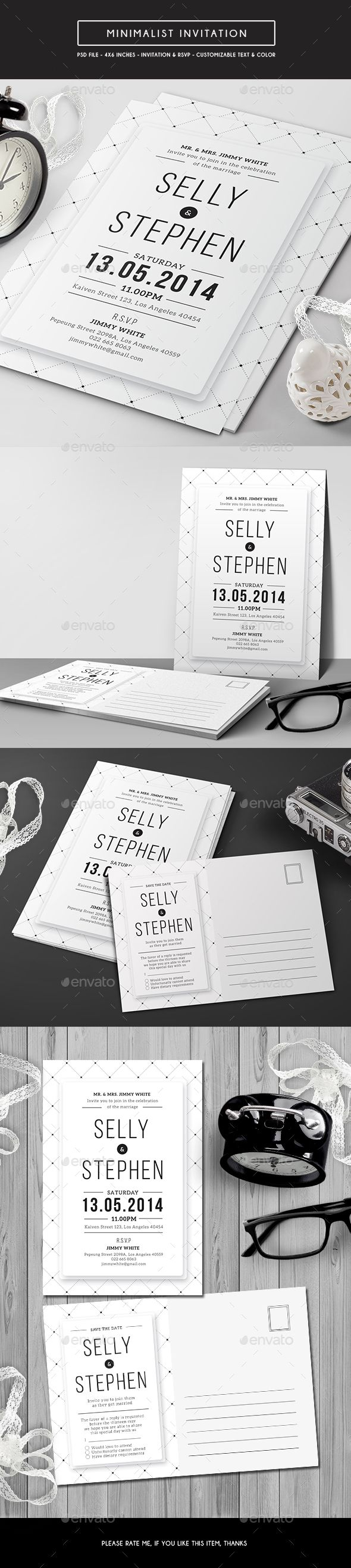 templates for wedding card design%0A Minimalist Invitation