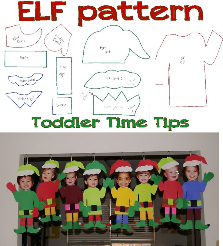 Elf Pattern Go to the Face Book Page: Toddler Time Tips…