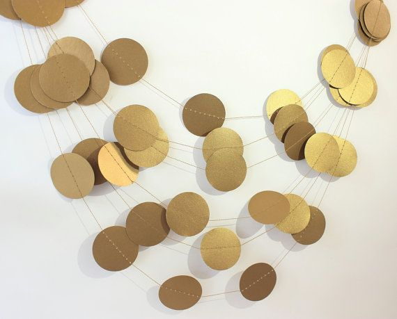 Wedding Garland Gold Silver & Black Garland by MailboxHappiness
