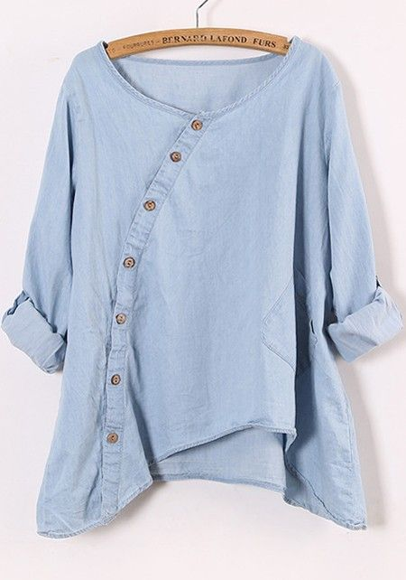 http://www.cichic.com/blue-round-neck-long-sleeve-loose-denim-blouse.html