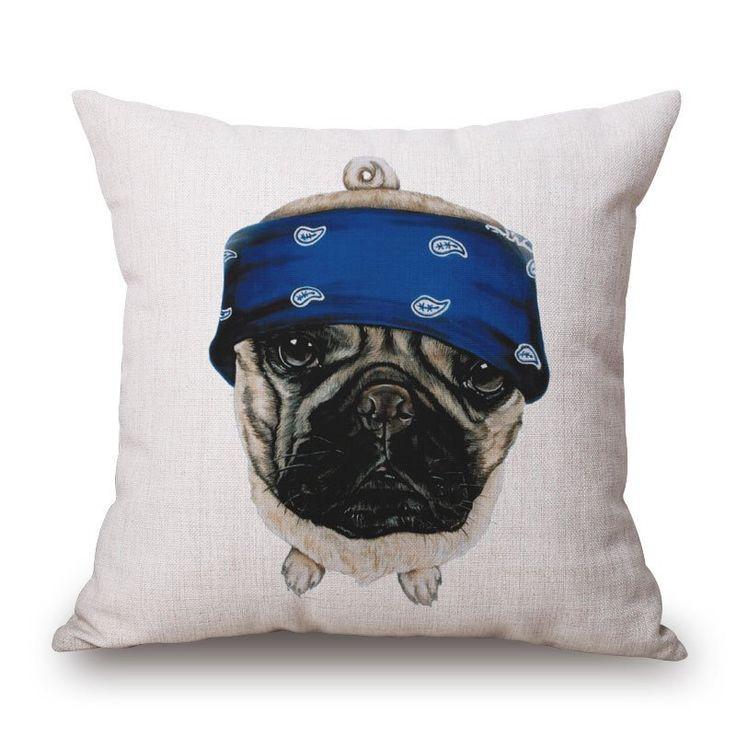 Cushion Cover - Bandana Pug – The General Pet Store