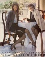 Donna Karan and Louis Dell'olio 1980s Ad