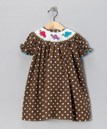 Brown Turtle Bishop Dress - Infant, Toddler & Girls by Marjorie's Daughter on #zulily today!Kids Smocking, Turtles Bishop, Toddlers Girls, Girls Stuff, Children Clothing, Bishop Dresses, Smocking Ideas, Kids Clothing, Brown Turtles