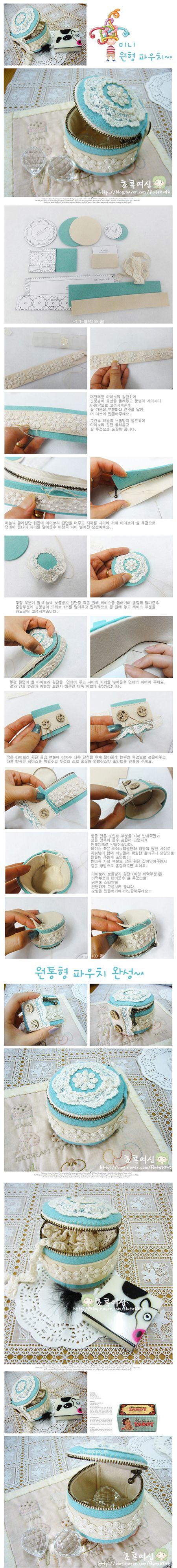 Tutorial: cute felt zippered box