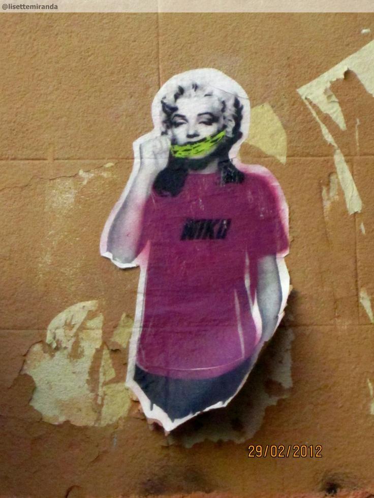 Marilyn Monroe in the streets of Madrid. Barrio Malasaña