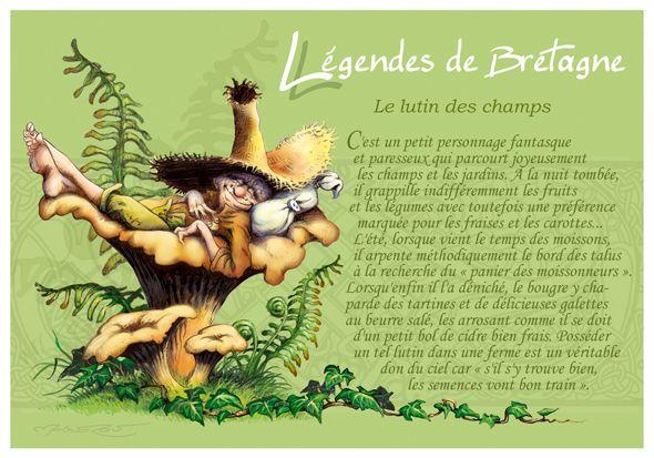 """Carte Postale Korrigan """"Le Lutin des Champs"""""""