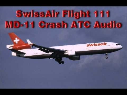 Swissair Flight 111 McDonnell Douglas MD11 Crash ATC Audio