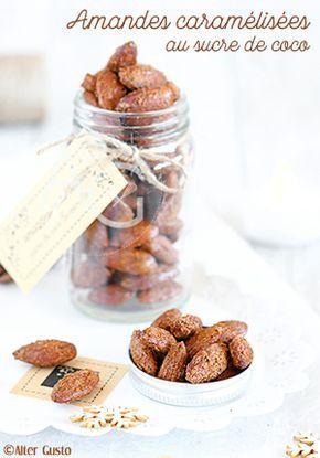 Mon Top Cadeau Gourmand de cette année est … Sont … Des amandes caramélisées au sucre de coco ! Trop bon, trop facile à faire, avec une cuisson lente au four pour un croquant extra.