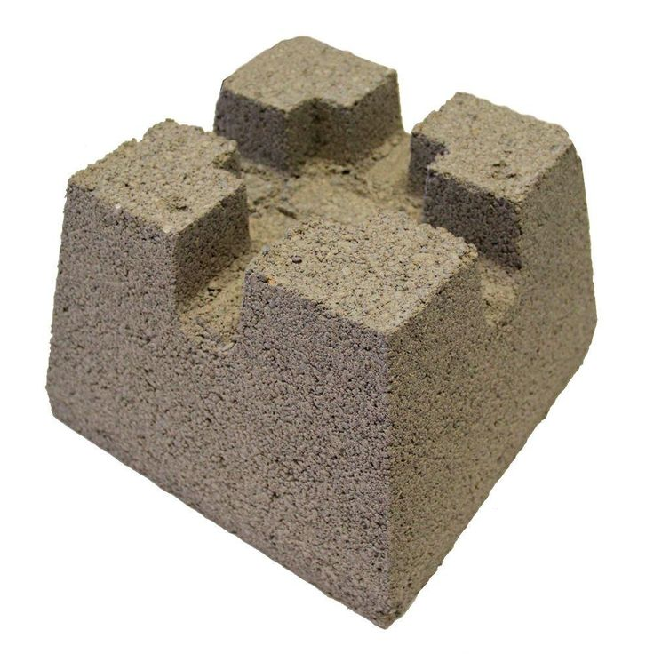 how to use cement deck blocks