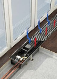 VARMANN Qtherm HK Mini   Внутрипольный конвектор отопления  Артикул:  QHK EM 190.90.900 RR U EV1  Встраиваемый конвектор отопления VARMANN Qtherm HK Mini, принудительная конвекция, нагрев и охлаждение, болшая мощность, решетка анодированная (серебристая). Гарантия производителя.