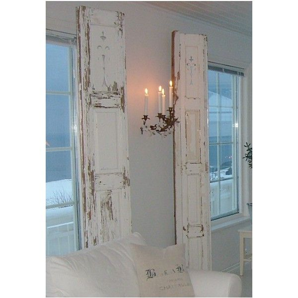 Shabby Chic ideas / old doors instead of curtains,YES!