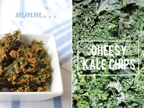 Cheesy Kale Chips! I love the cashew cheese. I was buying them at the natural foods store, but they were very expensive of course. Now that I know how easy these are to make, I am excited to try it!