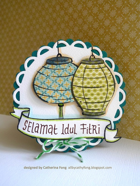 Very cute use of patterned paper for the stamps - Selamat Idul Fitri by cathy.fong, via Flickr