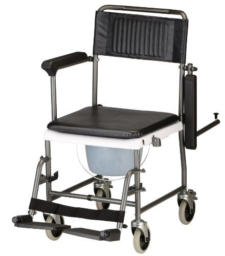 NOVA Medical Products 8805 Drop Arm Transport Chair Commode - http://wheelchairshandy.com/nova-medical-products-8805-drop-arm-transport-chair-commode/
