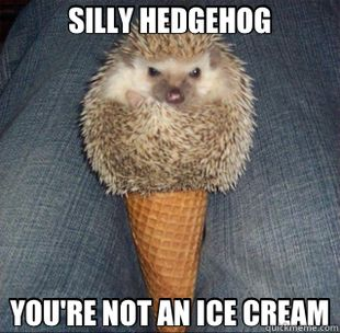 "Mrs. Hudson- Sherlock, what have you done to John now?!?  Sherlock- ... Bored... and we're out of ice cream. - I came across a buisness called ""J W Hedgehog, Inc"" today, and almost screamed out loud at work...I clearly have a problem."