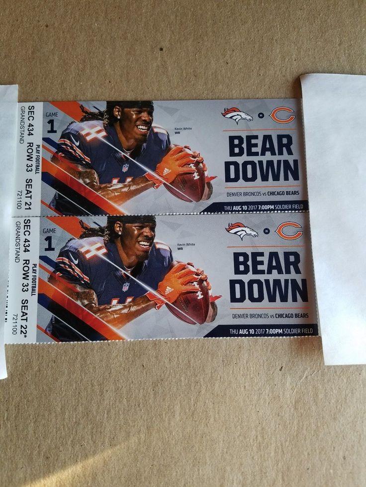 West side of stadium #football #tickets #bears #chicago #broncos #denver