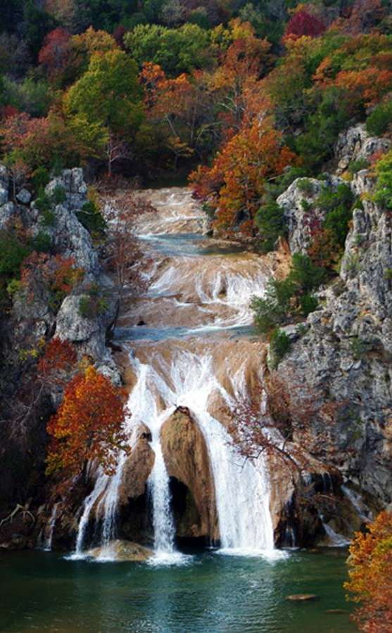 Turner Falls Park | Travel | Vacation Ideas | Road Trip | Places to Visit | Davis | OK | Cottage / Cabin | Swim Spot | Swimming Hole | Waterfall | Hiking Area | Natural Feature | RV Park | Campground