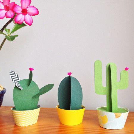 Paper Cacti - Cacto Palma - Na Casa da Joana