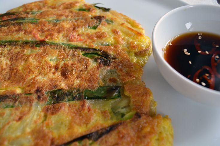 Pajeon - pancake coreano con cipollotti