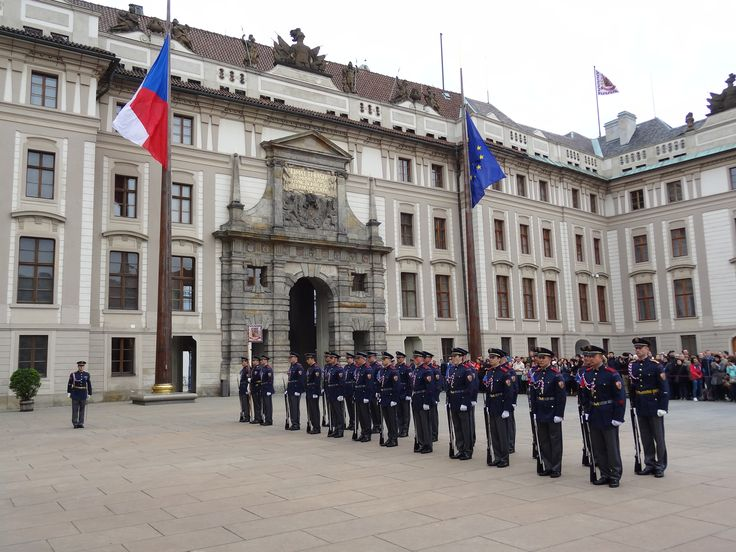 Change of guards at Prague castle - May 14 2014